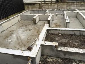 立ち上がり部分のコンクリート打設