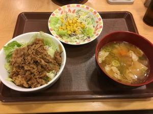 牛丼ライト+とん汁サラダセット