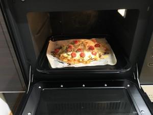 ガスオーブンとピザ